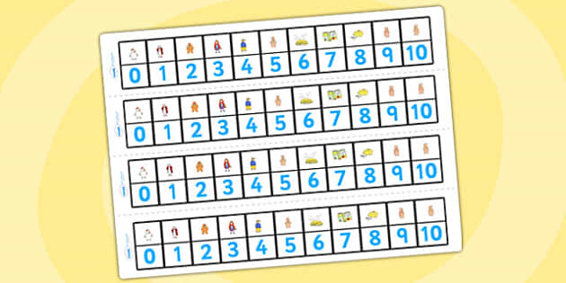 Number Track 0-10 to Support Teaching on Mr Wolf's Pancakes - mr Wolf's pancakes, counting