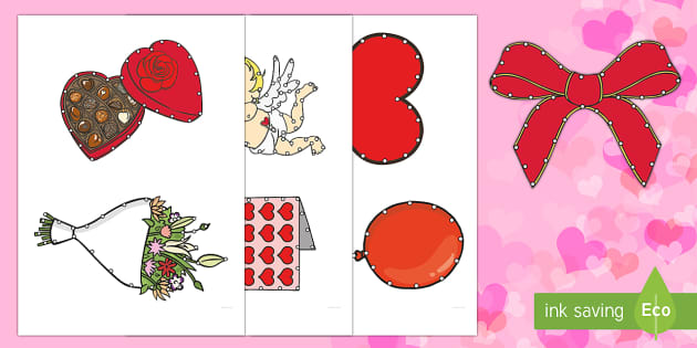 Valentine's Day Threading Cut-Outs - threading cards, fine motor skills, activities, junior infants, senior infants, early years, foundat