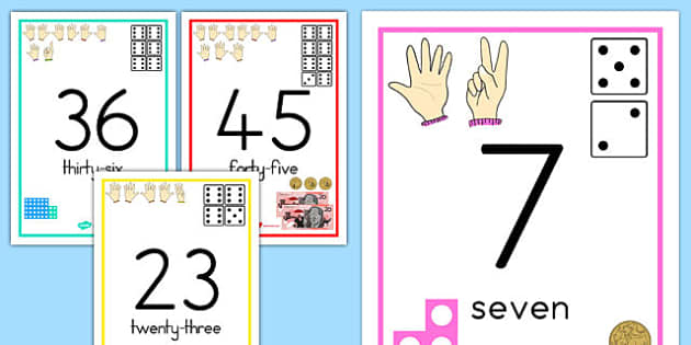 Australia - Visual Number Line Posters 1-50 - australia, visual, number line, posters, display, 0-50, numberline