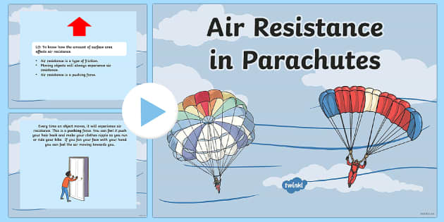 Air Resistance and Parachutes Experiment Task Setter PowerPoint-air resistance, parachutes, task setter, powerpoint, task powerpoints, experiments