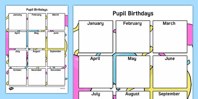Pupil Birthday Checklist-Irish