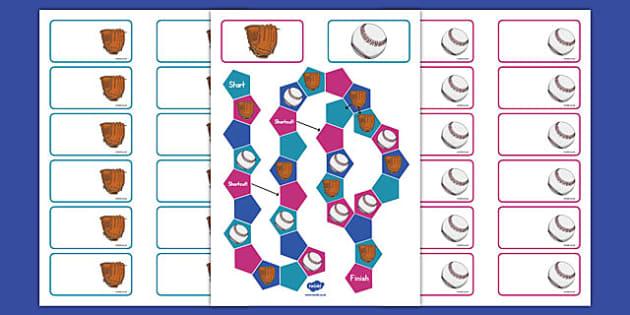 Baseball Themed Editable Board Game - usa, baseball, mlb, major league baseball, editable, board game
