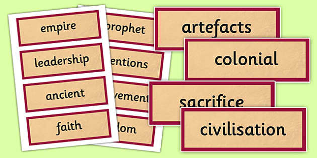 History AD 900 Vocabulary Cards - history, ad900, ad, 900, vocabulary, cards