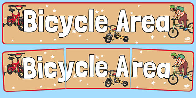 Bicycle Area Display Banner - bicycle, area, display banner, display, banner