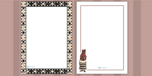 Benin AD 900 1300 Page Borders - writing aid, writing template