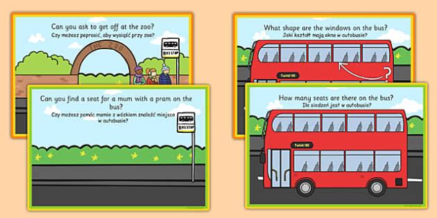 Challenge Cards Bus Station Polish Translation - polish, challenge cards, bus station, bus, station