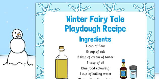 Winter Fairy Tale Playdough Recipe - winter fairy tale, playdough, recipe