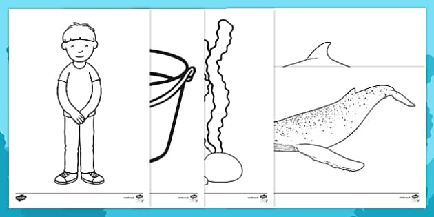 Sea Bucket Colouring Sheets - billy's bucket, sea bucket, colouring sheets, colour, story book, story, book