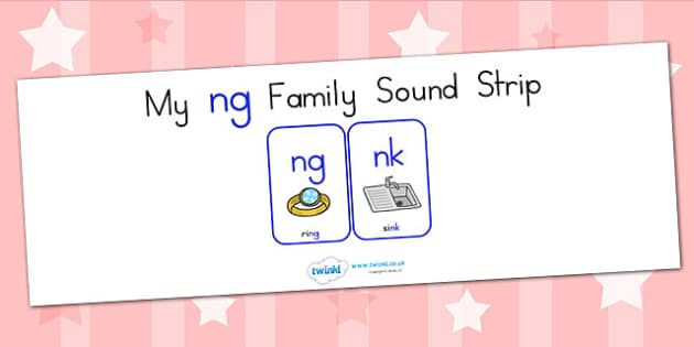 My Ng Family Sound Strip - sound family, visual aid, literacy