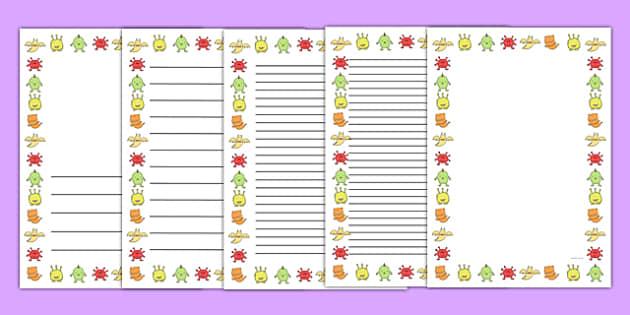 Germ Page Border - germ, page border, page, border, hygiene, healthy