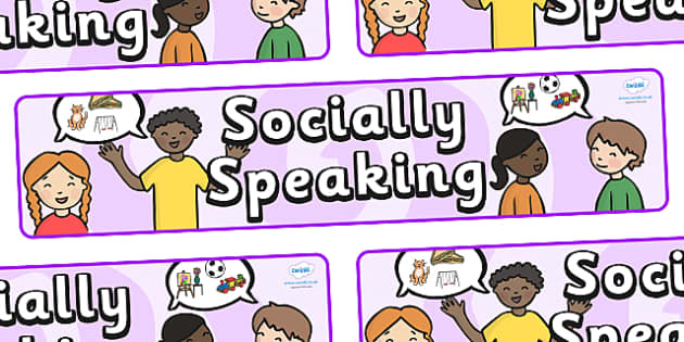 Socially Speaking Display Banner - socially speaking, social, speaking, display, banner, sign, poster