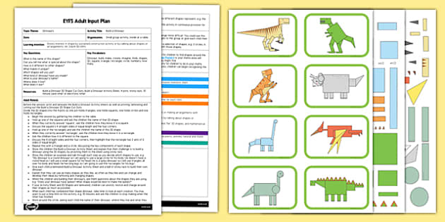 EYFS Build a Dinosaur Adult Input Plan and Resource Pack