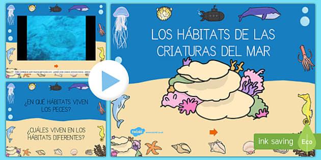 Presentación: Hábitats bajo el mar