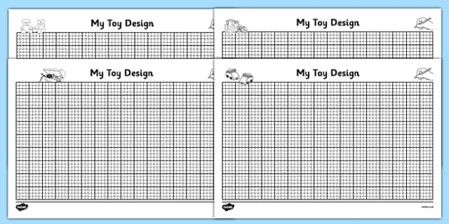 Toy Design Sheets - education, home school, free, fun for kids