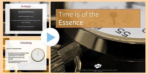Time Is of the Essence PowerPoint - time, essence, powerpoint, ks4