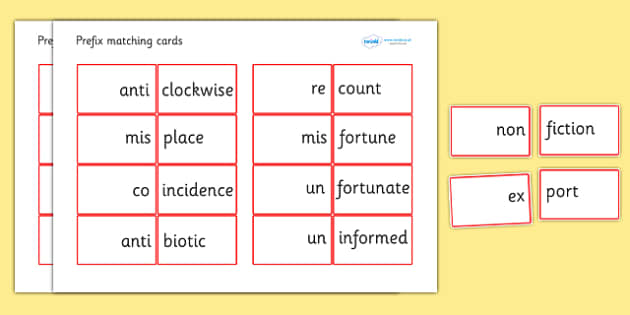 Prefix Matching Cards - prefixes, prefix matching game, prefix cards, prefix and root word matching cards, ks2 literacy, ks2 literacy matching game