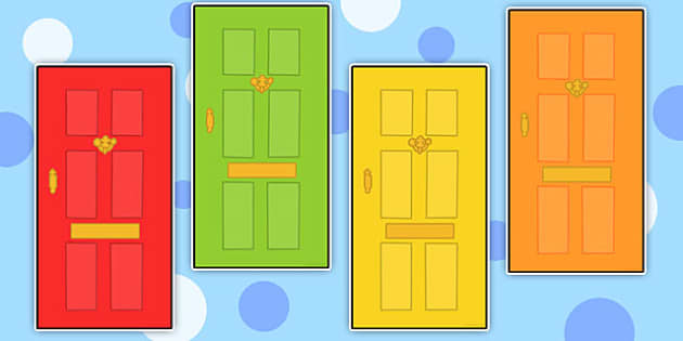 Editable Multicolour Doors - multicolour, doors, editable, edit