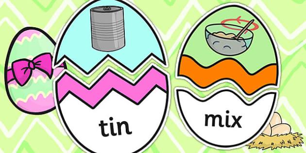 CVC I Words Easter Egg Matching Activity - CVC, easter, match
