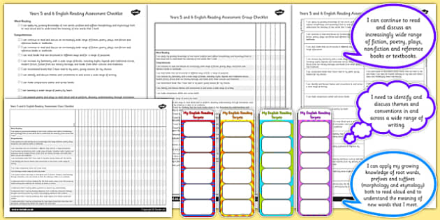 2014 Curriculum UKS2 Years 5 6 Reading Assessment Resource Pack