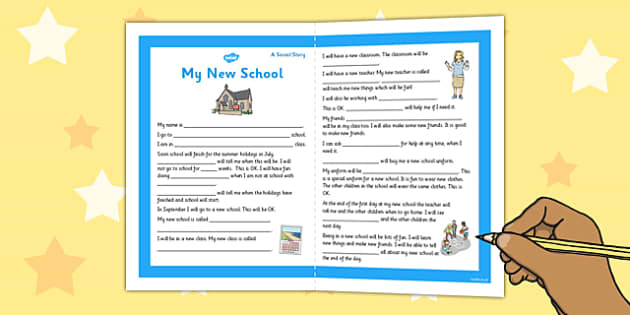 My New School Social Story Primary - new school, social, story
