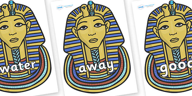Next 200 Common Words on Tutankhamun - Next 200 Common Words on  - DfES Letters and Sounds, Letters and Sounds, Letters and sounds words, Common words, 200 common words