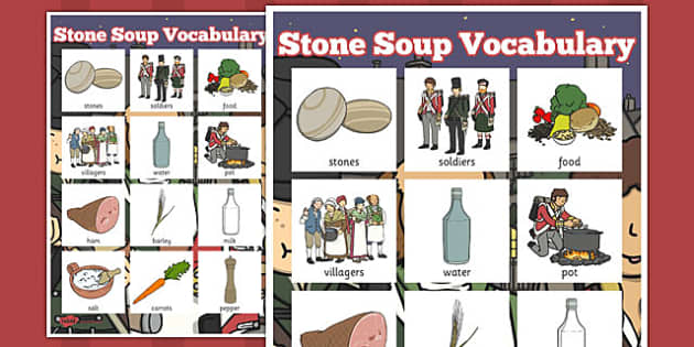 Stone Soup Vocabulary Poster - stone soup, vocabulary, poster