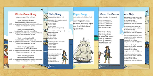 Pirate Themed Songs and Rhymes Resource Pack