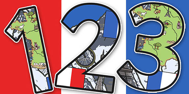 French Themed A4 Display Numbers - French, Display, Numbers