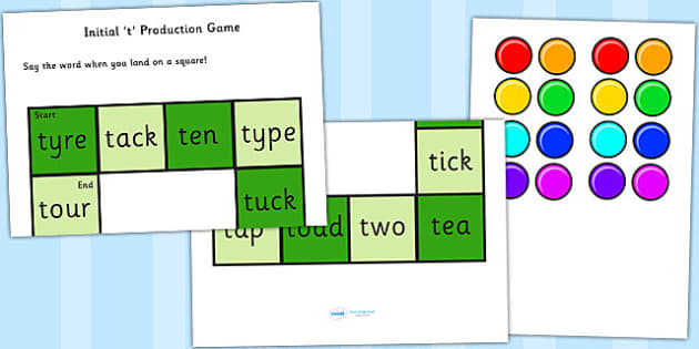 t and Vowel Production Game - t, vowel, sounds, sound production