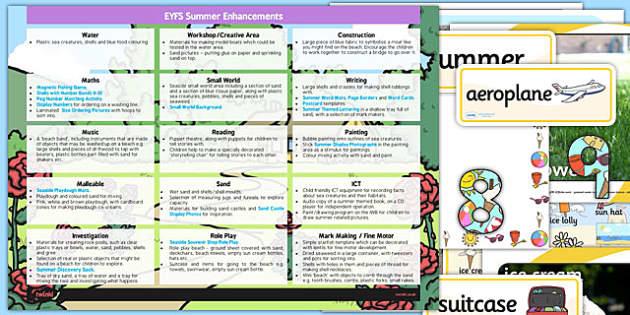 EYFS Summer Themed Enhancement Ideas and Resources Pack - summer