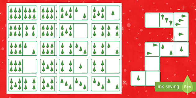 Christmas Tree Dominoes