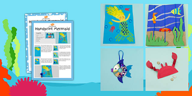 Under the Sea Themed Craft Activity Pack - craft, activity, pack