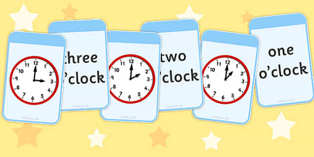 O'clock Matching Flashcards - matching, flashcards, o clock