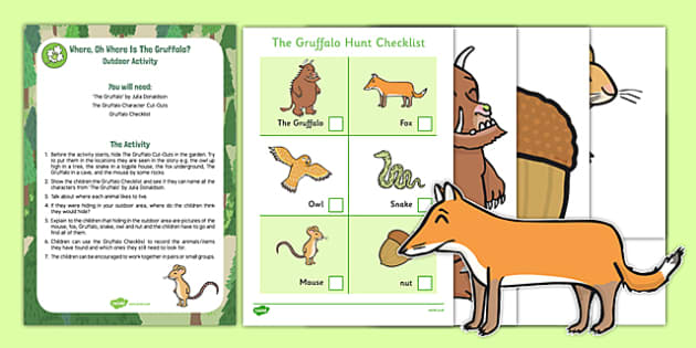 Where Oh Where Is The Gruffalo? Outdoor Activity to Support the Teaching on The Gruffalo - EYFS, walk, woods