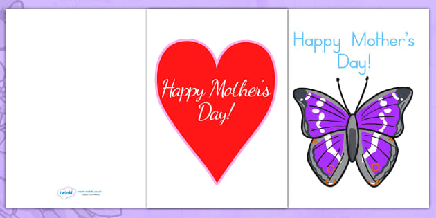 Mothers Day Card Templates - mothers day card, card template