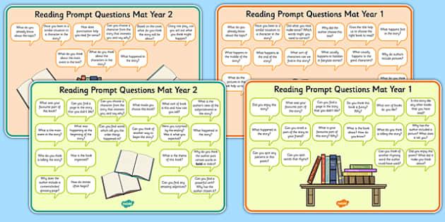 2014 Curriculum Reading Prompt Questions Mats KS1 - mats, prompt