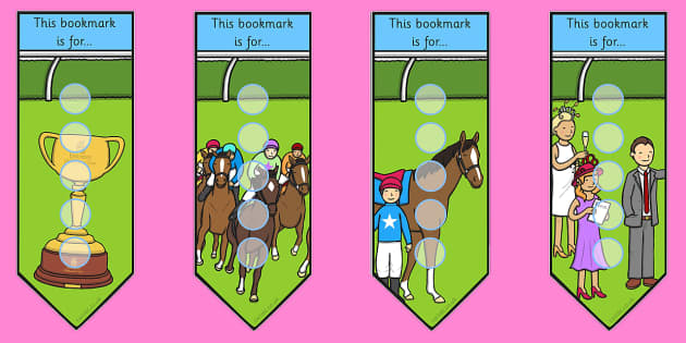 The Melbourne Cup Sticker Reward Bookmarks for Small Stickers - australia, melbourne cup, bookmarks