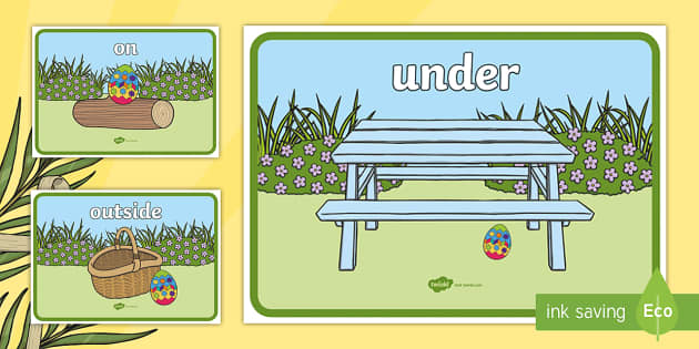 Easter Egg Positional Language Display Posters - display, posters, A4 posters, poster, classroom display posters
