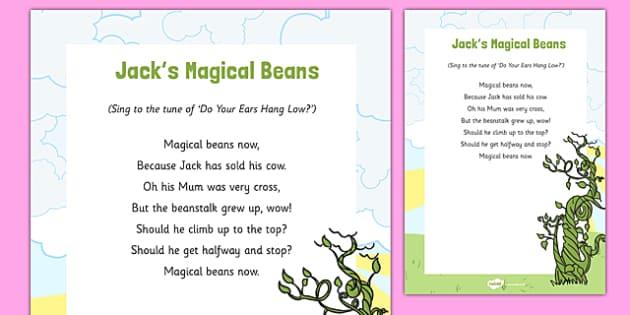 Jacks Magic Beans Song - Jack, Jack and the Beanstalk, beanstalk, nursery rhymes, rhyme