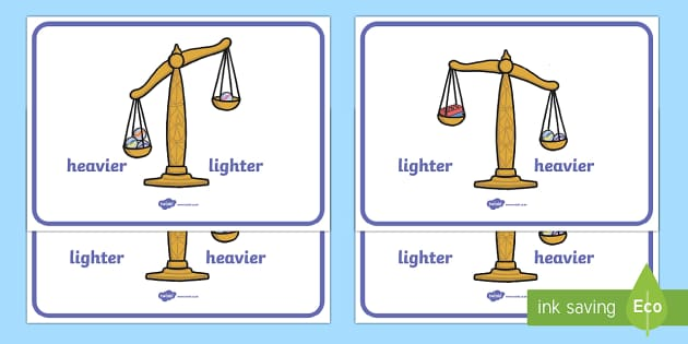 Weight Comparison Display Posters - weight, measure, numeracy