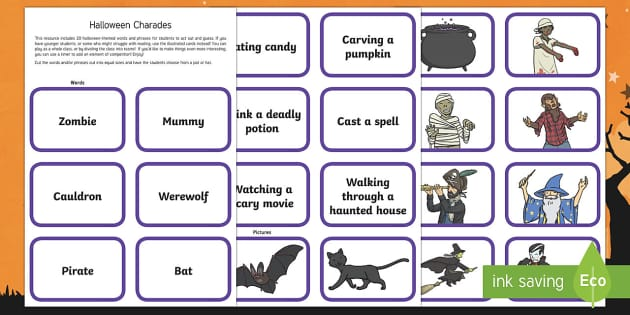 Halloween Charades Game