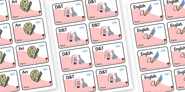 Rose Themed Editable Book Labels - Themed Book label, label, subject labels, exercise book, workbook labels, textbook labels