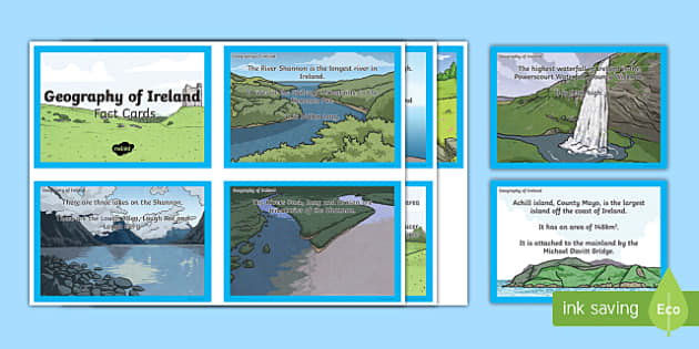 Geography of Ireland Fact Cards