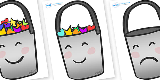 Have You Filled a Bucket Today Buckets (A4, Colour) - have you filled a bucket today, filling buckets, Carol McCloud, posters, signs, display, buckets, full, empty, bucket, colour, happyness, children