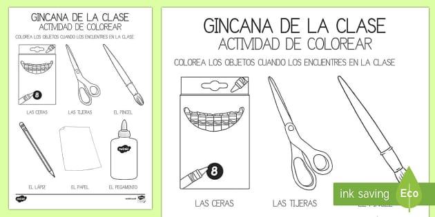 Gincana en la Clase Ficha de Actividad - Pack de actividades para la vuelta al cole ,Spanish, vuelta al cole