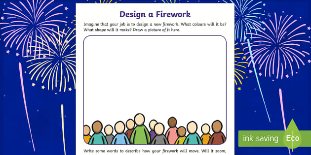 Guy Fawkes Firework Design Worksheet - guy fawkes, New zealand, fireworks