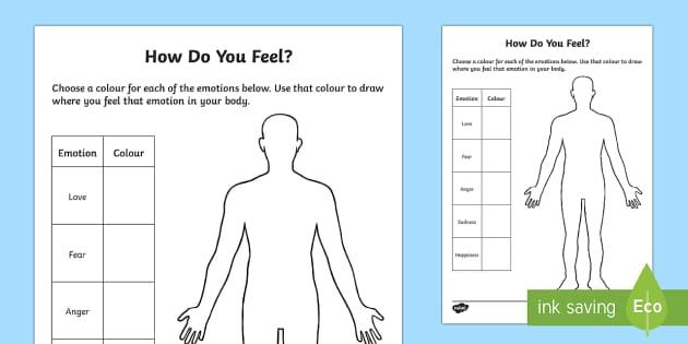 Mindful Me: How Do You Feel? Activity Sheet - Mindfulness, worksheet, feelings, emotions