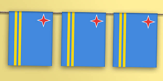 Aruba Flag Bunting - dutch, caribbean, venezuela, south america, south american, flags, countries, world, olympics, rio, 2016, events