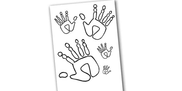Handprint Size Ordering - handprint, size ordering, sizes, ordering, handprint ordering, handprint sizes, size ordering activity, size and shape, shapes