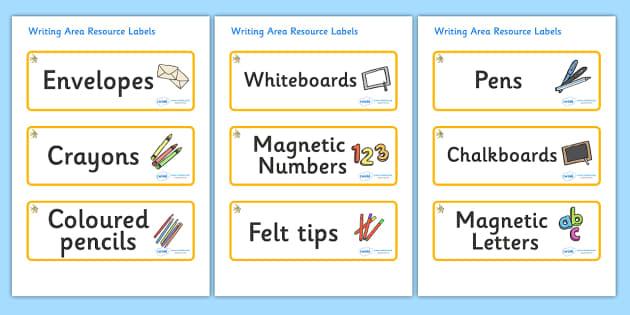 Angel Fish Themed Editable Writing Area Resource Labels - Themed writing resource labels, literacy area labels, writing area resources, Label template, Resource Label, Name Labels, Editable Labels, Drawer Labels, KS1 Labels, Foundation Labels, Founda